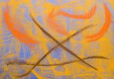 μπλε σειρά κρητιδογραφιώ Στοκ φωτογραφία με δικαίωμα ελεύθερης χρήσης