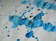 Μπλε σημεία, κέρινο υπόβαθρο, δημιουργικό σχέδιο Στοκ φωτογραφία με δικαίωμα ελεύθερης χρήσης
