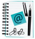μπλε σημειωματάριο απεικόνιση αποθεμάτων