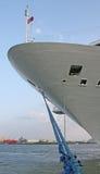 μπλε σκάφος σχοινιών Στοκ Φωτογραφία