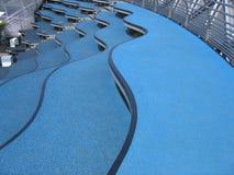 μπλε σκαλοπάτια Στοκ Φωτογραφίες