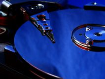 μπλε σκληρός δίσκος Στοκ εικόνα με δικαίωμα ελεύθερης χρήσης