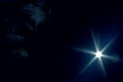 μπλε σκοτεινός ουρανός Στοκ Εικόνες