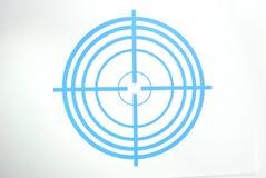 μπλε σκοτεινός στόχος Στοκ Εικόνες