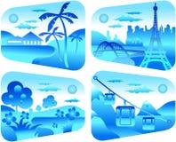 μπλε σκοτεινό ταξίδι διανυσματική απεικόνιση