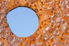 μπλε σκουριά κύκλων Στοκ Φωτογραφία