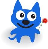 μπλε σκυλί Στοκ Εικόνες