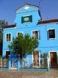 μπλε σπίτι στοκ εικόνες