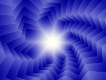 μπλε σπειροειδή τετράγωνα Στοκ Εικόνες