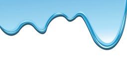 μπλε στάζοντας χρώμα ανασ&ka Στοκ Εικόνα