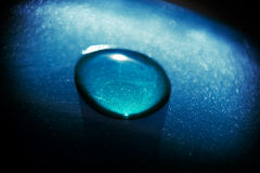 μπλε σταγονίδιο Στοκ εικόνα με δικαίωμα ελεύθερης χρήσης