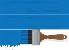 Μπλε σταλαγματιάς πινέλων Στοκ εικόνες με δικαίωμα ελεύθερης χρήσης