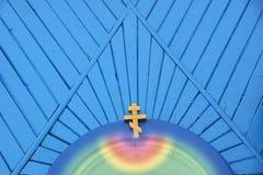 μπλε σταυρός στοκ φωτογραφία