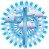 μπλε σταυρός Στοκ Εικόνα