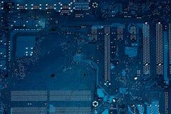 μπλε στενή μητρική κάρτα υπολογιστών χρώματος επάνω Στοκ εικόνες με δικαίωμα ελεύθερης χρήσης