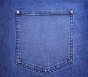 μπλε στενή τσέπη τζιν επάνω Στοκ Εικόνες