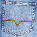 μπλε στενή τσέπη Jean επάνω Στοκ Φωτογραφίες