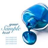 Μπλε στιλβωτική ουσία καρφιών Στοκ φωτογραφία με δικαίωμα ελεύθερης χρήσης