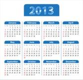 Μπλε στιλπνό ημερολόγιο για το 2013 Στοκ φωτογραφίες με δικαίωμα ελεύθερης χρήσης