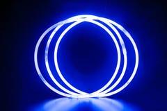 Μπλε στρογγυλά βραχιόλια Στοκ Εικόνα