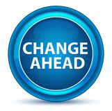Μπλε στρογγυλό κουμπί βολβών του ματιού αλλαγής μπροστά ελεύθερη απεικόνιση δικαιώματος