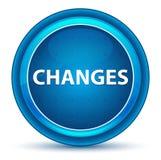 Μπλε στρογγυλό κουμπί βολβών του ματιού αλλαγών διανυσματική απεικόνιση
