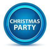 Μπλε στρογγυλό κουμπί βολβών του ματιού γιορτής Χριστουγέννων απεικόνιση αποθεμάτων