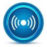 Μπλε στρογγυλό κουμπί βολβών του ματιού εικονιδίων σημάτων δικτύων ελεύθερη απεικόνιση δικαιώματος