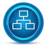 Μπλε στρογγυλό κουμπί βολβών του ματιού εικονιδίων συνδέσεων δικτύων απεικόνιση αποθεμάτων