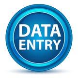 Μπλε στρογγυλό κουμπί βολβών του ματιού εισαγωγών δεδομένων διανυσματική απεικόνιση