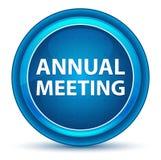 Μπλε στρογγυλό κουμπί βολβών του ματιού ετήσια συνάντησης απεικόνιση αποθεμάτων