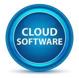 Μπλε στρογγυλό κουμπί βολβών του ματιού λογισμικού σύννεφων διανυσματική απεικόνιση