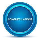 Μπλε στρογγυλό κουμπί βολβών του ματιού συγχαρητηρίων ελεύθερη απεικόνιση δικαιώματος
