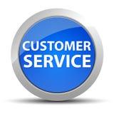 Μπλε στρογγυλό κουμπί εξυπηρέτησης πελατών απεικόνιση αποθεμάτων