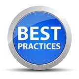 Μπλε στρογγυλό κουμπί καλύτερων πρακτικών απεικόνιση αποθεμάτων
