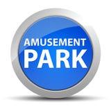Μπλε στρογγυλό κουμπί λούνα παρκ απεικόνιση αποθεμάτων