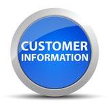 Μπλε στρογγυλό κουμπί πληροφορίας πελάτη διανυσματική απεικόνιση