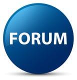 Μπλε στρογγυλό κουμπί φόρουμ ελεύθερη απεικόνιση δικαιώματος