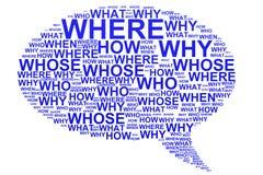 μπλε συζήτηση ερωτήσεων φυσαλίδων διανυσματική απεικόνιση