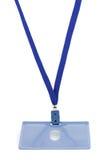 μπλε συμβολοσειρά διακριτικών στοκ εικόνα