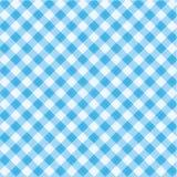 μπλε συμπεριλαμβανόμενο gingham πρότυπο υφάσματος άνευ ραφής Στοκ Εικόνες