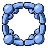 μπλε συνδεμένα κύκλος άτ&omi διανυσματική απεικόνιση