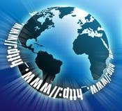 μπλε σφαίρα Διαδίκτυο στοκ φωτογραφίες