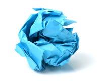 Μπλε σφαίρα εγγράφου στοκ φωτογραφία με δικαίωμα ελεύθερης χρήσης
