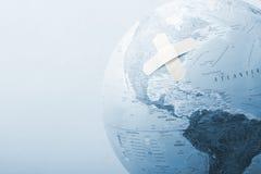 μπλε σφαίρα επιδέσμων Στοκ Φωτογραφίες