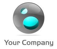 μπλε σφαίρα λογότυπων πυ&rh Στοκ φωτογραφία με δικαίωμα ελεύθερης χρήσης