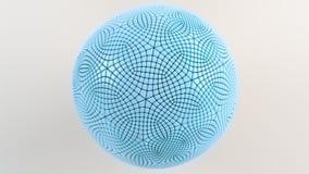Μπλε σφαίρα στην άσπρη επιφάνεια Απεικόνιση αποθεμάτων