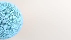 Μπλε σφαίρα στην άσπρη επιφάνεια Ελεύθερη απεικόνιση δικαιώματος