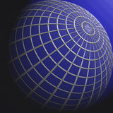Μπλε σφαίρα Διανυσματική απεικόνιση