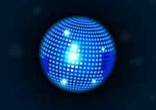 Μπλε σφαίρα disco. Στοκ Εικόνες